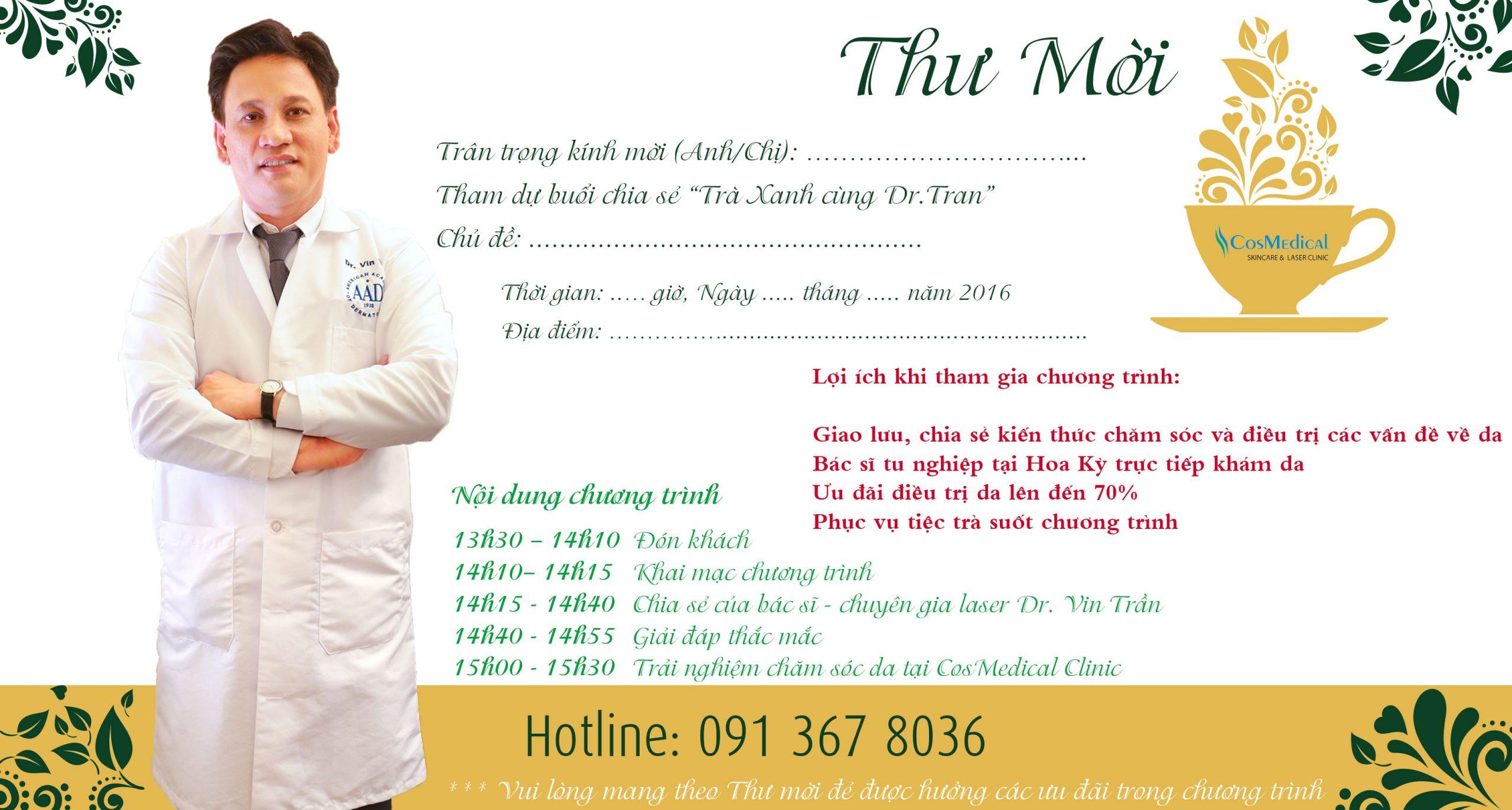 tiệc trà xanh cùng Dr Trần