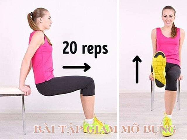 giảm mỡ bụng bằng các bài tập hiệu quả