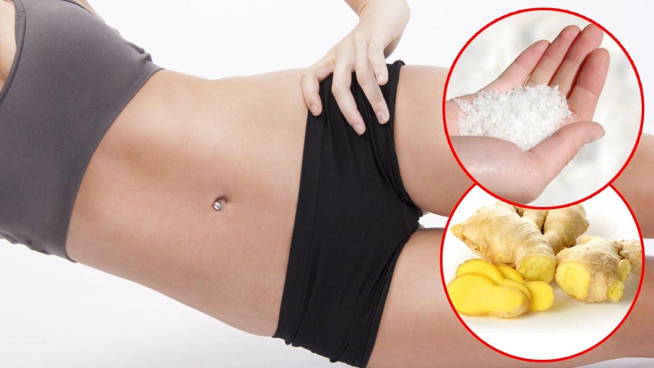 giảm béo bụng để uống gừng tươi