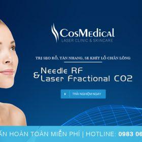 Needle RF & Laser Fractional CO2 – Trị sẹo rỗ, tàn nhang, se khít lỗ chân lông