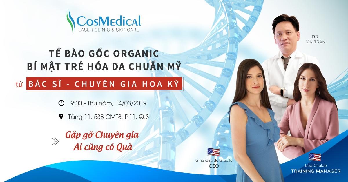 """Hội thảo thẩm mỹ: """"Tế bào gốc Organic - Bí mật trẻ hóa da chuẩn Mỹ từ Bác sĩ, Chuyên gia Hoa Kỳ"""""""
